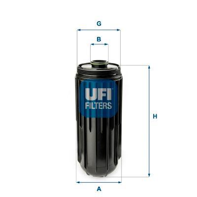 65.087.00 UFI Ø: 137,0mm, Außendurchmesser 2: 52,0mm, Höhe: 348,0mm Ölfilter 65.087.00 günstig kaufen