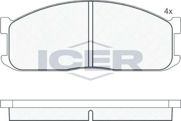 Bremsbelagsatz Scheibenbremse ICER 140687