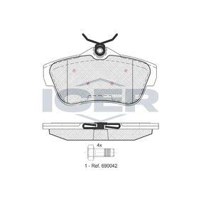 D19809208 ICER Achsausf.: Rear Höhe: 58,5mm, Dicke/Stärke: 17mm Bremsbelagsatz, Scheibenbremse 141823 günstig kaufen