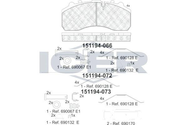 Kit pastiglie freno, Freno a disco 151194 a prezzo basso — acquista ora!