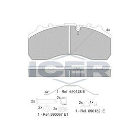 Bremsbelagsatz, Scheibenbremse ICER 151194-066 mit 16% Rabatt kaufen