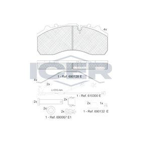 Bremsbelagsatz, Scheibenbremse ICER 151194-117 mit 19% Rabatt kaufen
