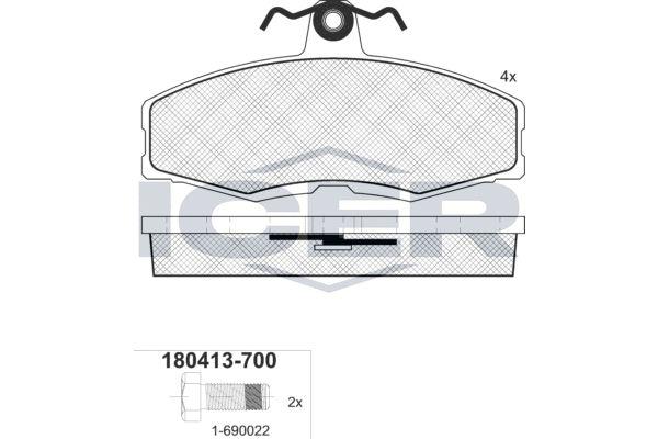 Bremsbeläge ICER 180413-700
