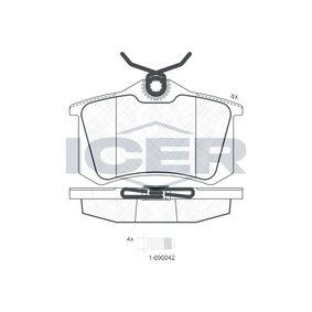 D8947773 ICER Achsausf.: Rear Höhe: 52,8mm, Dicke/Stärke: 17,2mm Bremsbelagsatz, Scheibenbremse 180697-700 günstig kaufen