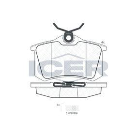 D8947773 ICER Achsausf.: Rear Höhe: 52,8mm, Dicke/Stärke: 17,2mm Bremsbelagsatz, Scheibenbremse 180697-703 günstig kaufen