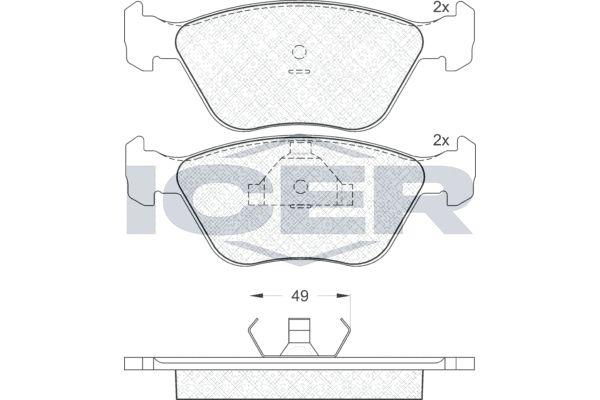 Bremsbelagsatz ICER 180952