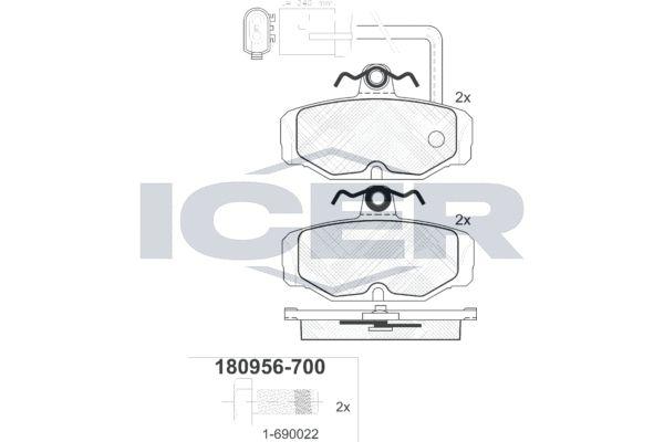 Bremsbelagsatz ICER 180956-700