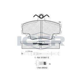 D11468256 ICER inkl. Verschleißwarnkontakt, Achsausf.: Front Höhe: 64,9mm, Dicke/Stärke: 18mm Bremsbelagsatz, Scheibenbremse 180993-700 günstig kaufen