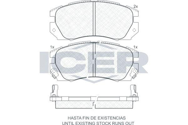 D5637442 ICER inkl. Verschleißwarnkontakt, Achsausf.: Front Höhe: 58,7mm, Breite: 127,8mm, Dicke/Stärke: 17mm Bremsbelagsatz, Scheibenbremse 180999 günstig kaufen