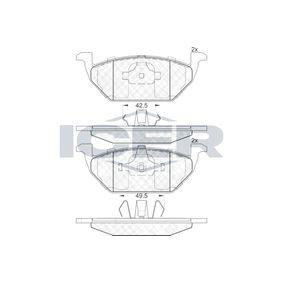 D7687860 ICER Tipo de eje: Front Altura: 54,8mm, Espesor: 19,5mm Juego de pastillas de freno 181338 a buen precio