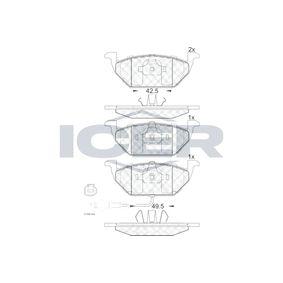 D7687709 ICER inkl. Verschleißwarnkontakt, Achsausf.: Front Höhe: 54,8mm, Dicke/Stärke: 19,5mm Bremsbelagsatz, Scheibenbremse 181349 günstig kaufen