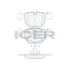 D6817560 ICER Achsausf.: Front Höhe: 73,3mm, Dicke/Stärke: 19,3mm Bremsbelagsatz, Scheibenbremse 181530 günstig kaufen