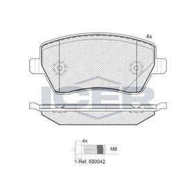 D14358553 ICER Achsausf.: Front Höhe: 52,4mm, Dicke/Stärke: 17,3mm Bremsbelagsatz, Scheibenbremse 181534-700 günstig kaufen