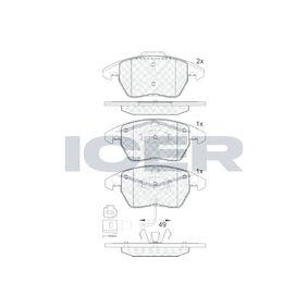 D11078760 ICER con contacto avisador de desgaste, Tipo de eje: Front altura 2: 71,4mm, Altura: 66,1mm, Espesor: 20,3mm Juego de pastillas de freno 181567 a buen precio