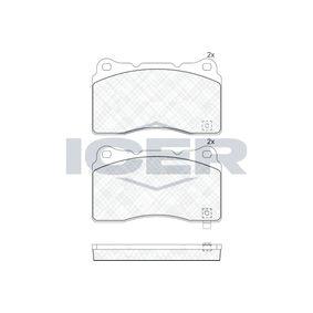 Bromsbeläggssats, skivbroms 181585 CHEVROLET CORVETTE Cabriolet (C7) — ta vara på ditt erbjudande nu!