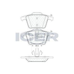 D9807883 ICER Achsausf.: Rear Höhe 2: 63,7mm, Höhe: 61,7mm, Dicke/Stärke: 18,7mm Bremsbelagsatz, Scheibenbremse 181612 günstig kaufen