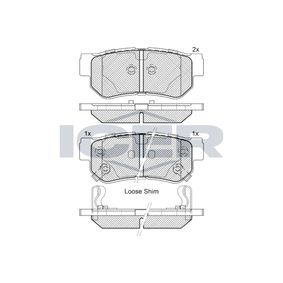 D8137688 ICER inkl. Verschleißwarnkontakt, Achsausf.: Rear Höhe: 40,9mm, Dicke/Stärke: 15mm Bremsbelagsatz, Scheibenbremse 181645 günstig kaufen