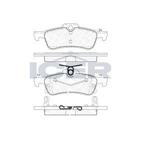 24576 ICER inkl. Verschleißwarnkontakt, Achsausf.: Rear Höhe: 43,8mm, Dicke/Stärke 2: 15mm, Dicke/Stärke: 14,8mm Bremsbelagsatz, Scheibenbremse 181878 günstig kaufen