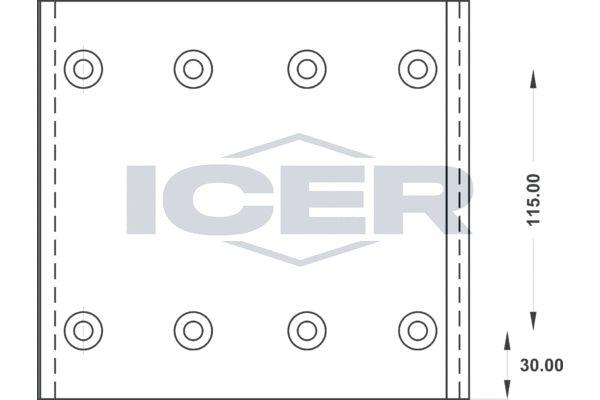 21 9935 00 ICER Bremsbelagsatz, Trommelbremse billiger online kaufen