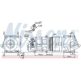 89202 Kompressor, Klimaanlage NISSENS in Original Qualität
