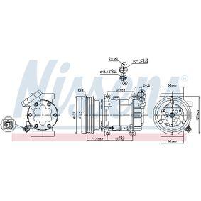 89332 Kompressor, Klimaanlage NISSENS in Original Qualität