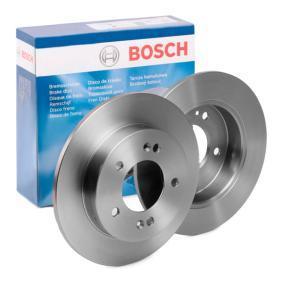 Купете BOSCH плътен, омаслен Ø: 258мм, брой на дупките: 5, дебелина на спирачния диск: 10мм Спирачен диск 0 986 479 059 евтино