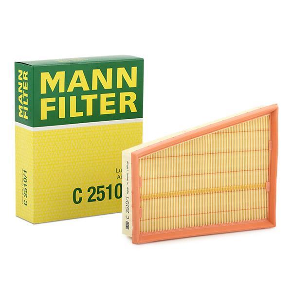 C 2510/1 MANN-FILTER Filtereinsatz Länge: 243mm, Länge: 243mm, Breite: 192mm, Höhe: 58mm Luftfilter C 2510/1 günstig kaufen