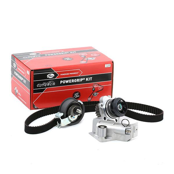 Car spare parts VW NEW BEETLE 2008: Water pump and timing belt kit GATES KP25491XS at a discount — buy now!