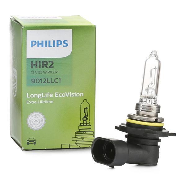 Reservdelar TOYOTA IQ 2015: Glödlampa, fjärrstrålkastare PHILIPS 9012LLC1 till rabatterat pris — köp nu!