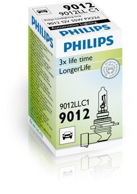 9012LLC1 Glühlampe, Fernscheinwerfer PHILIPS 35125530 - Große Auswahl - stark reduziert