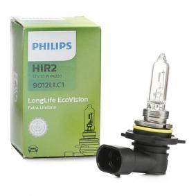 Køb PHILIPS LongLife 55w, HIR2, 12V Pære, fjernlys 9012LLC1 billige
