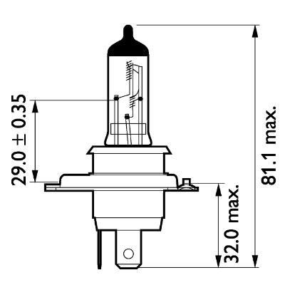 PHILIPS | Glühlampe, Fernscheinwerfer 13342MDB1