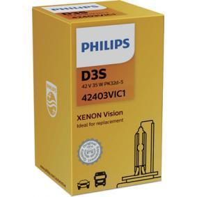 42403VIC1 Glödlampa, fjärrstrålkastare PHILIPS - Billiga märkesvaror