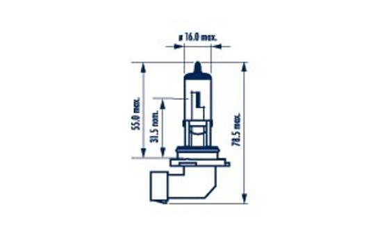 Spotlight bulb 48613 NARVA — only new parts