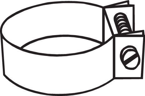 Volkswagen BEETLE TYPE 1 2003 Clamp, exhaust system BOSAL 250-867: