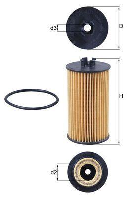 MAHLE ORIGINAL   Oil Filter OX 401D