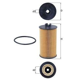 79925236 MAHLE ORIGINAL Filtereinsatz Innendurchmesser 2: 23,0mm, Ø: 56,0mm, Höhe: 105,4mm, Höhe 1: 97,3mm Ölfilter OX 401D günstig kaufen