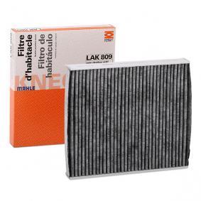 LAO809 MAHLE ORIGINAL Aktivkohlefilter Breite: 224,0mm, Höhe: 35,5mm Filter, Innenraumluft LAK 809 günstig kaufen