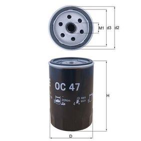 OC 47 Ölfilter MAHLE ORIGINAL - Markenprodukte billig