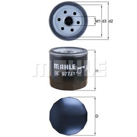 OC 977/1 Ölfilter MAHLE ORIGINAL Test