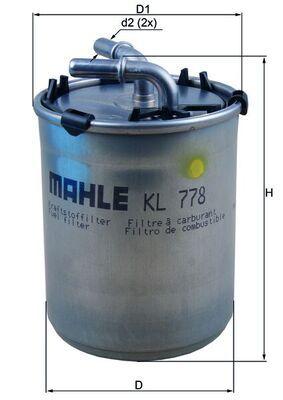 KL 778 Brændstof-filter MAHLE ORIGINAL Test