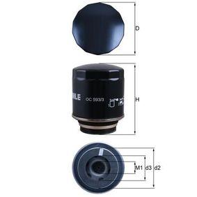 OC 593/3 Ölfilter MAHLE ORIGINAL - Markenprodukte billig