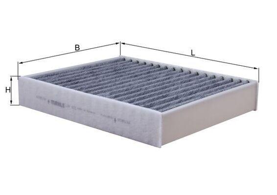 MAHLE ORIGINAL: Original Filter Innenraumluft LAK 812 (Breite: 198mm, Höhe: 40, 41mm, Länge: 248mm)