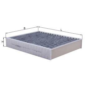 LAO812 MAHLE ORIGINAL Aktivkohlefilter Breite: 198,0mm, Höhe: 40,0mm Filter, Innenraumluft LAK 812 günstig kaufen