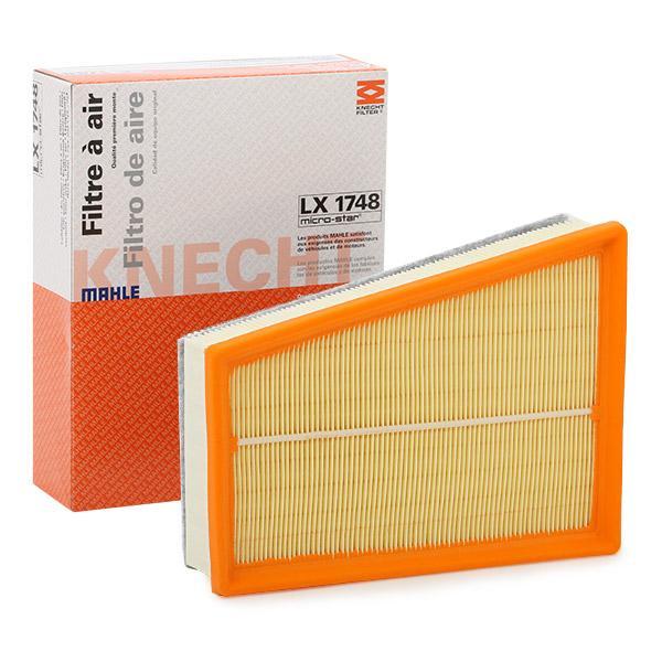 MAHLE ORIGINAL: Original Luftfiltereinsatz LX 1748 (Länge über Alles: 244,6mm, Länge: 188,9mm, Breite: 188,9, 189mm, Höhe: 66mm)