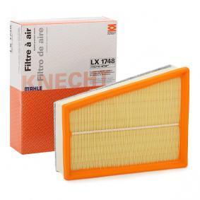 79927978 MAHLE ORIGINAL Filtereinsatz Länge über Alles: 244,6mm, Breite: 188,9mm, Höhe: 66,3mm Luftfilter LX 1748 günstig kaufen