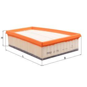 LX 1748 Luftfilter MAHLE ORIGINAL in Original Qualität