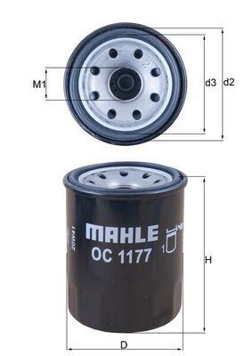OC 1177 Filter MAHLE ORIGINAL - Markenprodukte billig