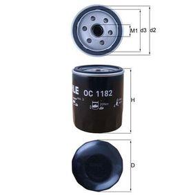 Anschraubfilter Ölfilter Filter MAHLE ORIGINAL OC 1182 Filterausführung