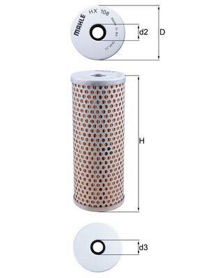 Filtro idraulico sterzo HX 108 MAHLE ORIGINAL — Solo ricambi nuovi